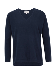 Kelly V-Neck Jumper Navy - People Tree