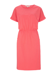 Rhona Pocket Dress Coral  - People Tree