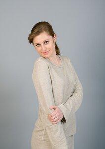 Frauen Langarm Shirt pure Hanfjersey  - Hanfwelten