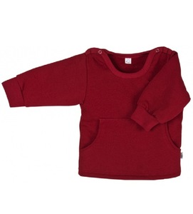 Baby Sweatshirt weinrot Bio Baumwolle - iobio