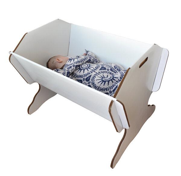 Green Lullaby - Kinderbett aus Karton mit Standfuß mit Matratze ...