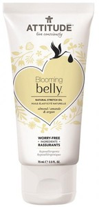 Blooming Belly Natural Stretch Oil - Almond & Argan - Attitude