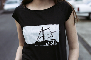 Ahoi 2.0 Organic + Fair Raglan Shirt - black - ilovemixtapes