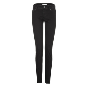 Womens Slim Jeans Black One Wash - goodsociety