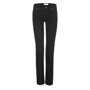 Womens Straight Jeans Black One Wash - goodsociety