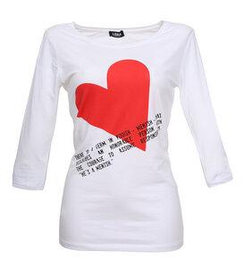 Mentsh - Sleeve Shirt weiss - Lena Schokolade