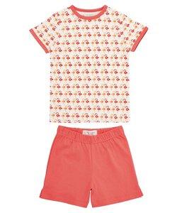 Kinder Schlafanzug kurz Koralle  - sense-organics