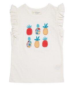 Mädchen T-Shirt Natur mit Stickerei biologisch - sense-organics