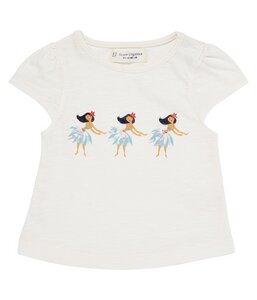 Mädchen T-Shirt Natur mit Print biologisch - sense-organics