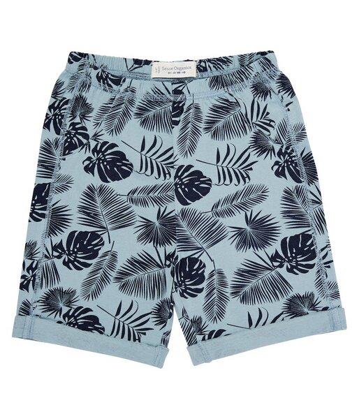 Bay u. Kinder Shorts Blau Mit Palmen Print Bio