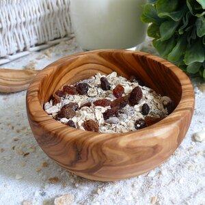 Müslischale aus Olivenholz Ø 14-15 cm - Olivenholz erleben