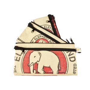 Etui-Set Sovann (3er-Pack) aus Zement-/ Fischfutter-/ Reissack - Upcycling Deluxe