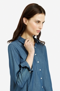 Dixie Dot Shirt Blue - People Tree