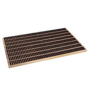 Fußabtreter mit Rahmen aus Buche und robusten Naturborsten - NATUREHOME