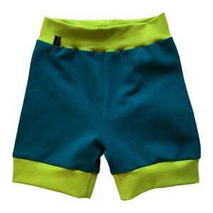 leichte Baby Jersey-Shorts petrol - bingabonga