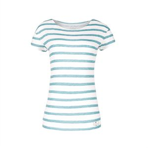 Striped Damen T-Shirt blau - bleed