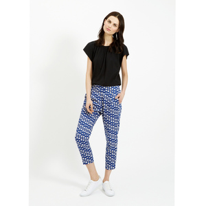 Frances Printed Trousers Blue - People Tree