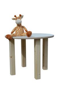 Kindertisch - rund - weiße Tischplatte Ø 58 cm - NEU - Die Schreiner Christoph Siegel