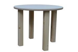 Kindertisch - weiß - runde Tischplatte - NEU - Die Schreiner Christoph Siegel