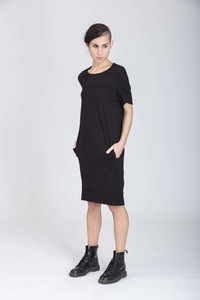 Diana Dress/ 0002 Bamboo&Organic Cotton/Minimal - Re-Bello