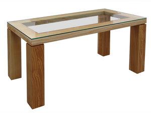 Design-Tisch mit Glasplatte - Die Schreiner Christoph Siegel