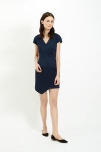 Aspen Dress Navy - People Tree