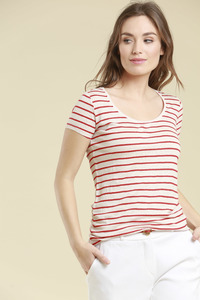 Leinenbasicshirt Stripes - Lanius