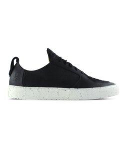 argan low / schwarzes glattleder / weiße sohle - ekn footwear