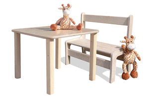 Kindersitzgruppe - Tisch und 1 Bank - Die Schreiner Christoph Siegel