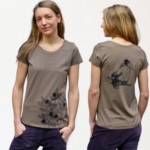 Damen T-Shirt Blaubeere walnut brown - Cmig