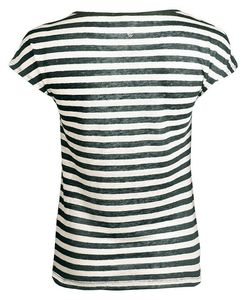Linen Short Stripe pinie - Alma & Lovis