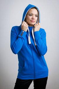 Damen Zipper blau - recolution