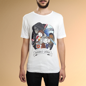 'Doodle Wars', T-Shirt Herren aus Biobaumwolle - What about Tee