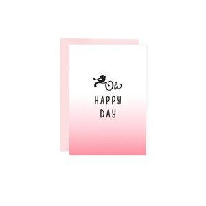 Mini-Grußkarte Oh happy Day - Bow & Hummingbird