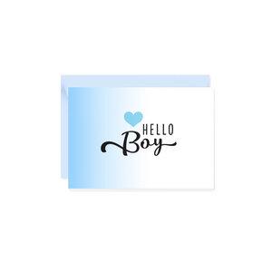 Mini-Grußkarte Hello Boy - Bow & Hummingbird