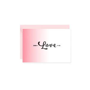 Mini-Grußkarte Love - Bow & Hummingbird