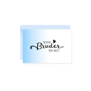 Mini-Grußkarte Bester Bruder - Bow & Hummingbird