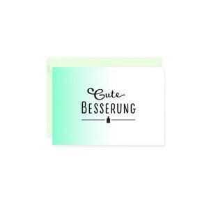 Mini-Grußkarte Gute Besserung - Bow & Hummingbird