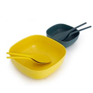 BIOBU GUSTO Salatschüssel - große Schüssel / Salatschale aus Bambusfaser - EKOBO