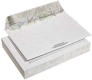 RECYCLING DESIGN UMSCHLÄGE / KUVERTS aus fehlbedruckter Landkarte - C5 ohne Fenster - 10 Stück - DRP GmbH
