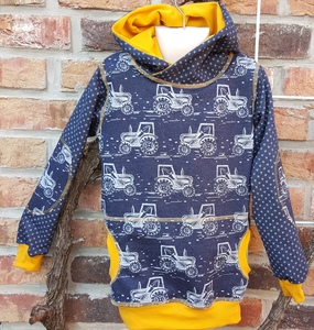 Kinder-/Baby-Kapuzenpulli Thores Traktor  - Omilich