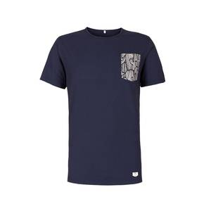 Pocket T-Shirt blau - bleed