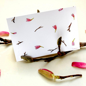 Grußkarte Magnolie - karamelo