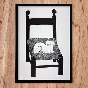 Recycling-Poster Cat Nap - Lisa Jones