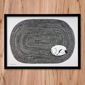 Recycling-Poster Dog Tired - Lisa Jones
