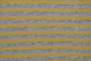 Bio-Strickbündchen grau meliert - gelb  - Lebenskleidung