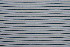 Bio-Strickbündchen taubenblau-weiß-petrol - Lebenskleidung
