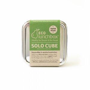 ECOlunchbox Solo Cube, quadratische Brotdose aus Edelstahl - ECOlunchbox