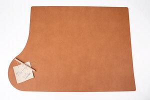 """Schreibunterlage """"Plus"""" 69x49cm aus recyceltem Leder (für Linkshänder) - IMTC"""