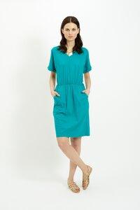 Rhona Pocket Dress Green - People Tree